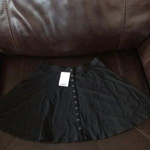 Urban Outfitters Black Mini High Waisted Skirt